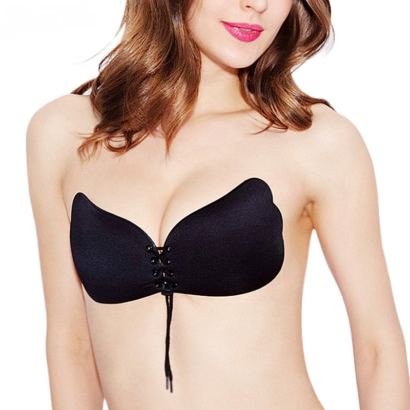 Queen-time-Women-Self-Adhesive-Strapless-Bandage-Blackless-Stick-Gel-Silicone-Push-Up-women-s-intimates-3